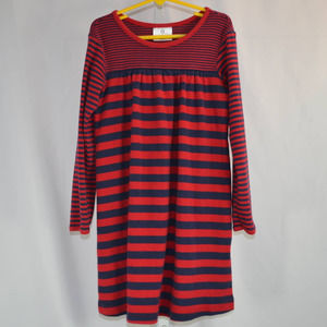 Hanna Andersson LS Striped Knit Dress 120/6-7